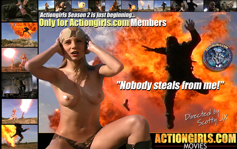 Martina Fox doesn't like when people steal from her! See  100's of Fun Actiongirls.com Movies and Pictures Now!