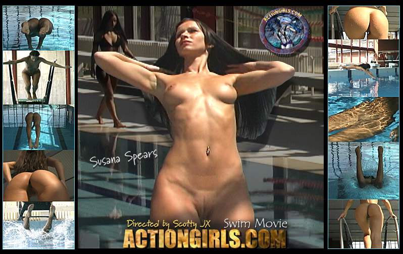 actiongirls.com susana spears swim movie poster P0rn Stars Without Makeup (16 PICS)